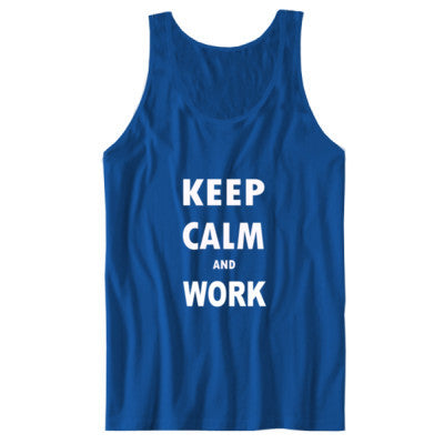 Keep Calm And Work - Unisex Jersey Tank S-True Royal- Cool Jerseys - 1