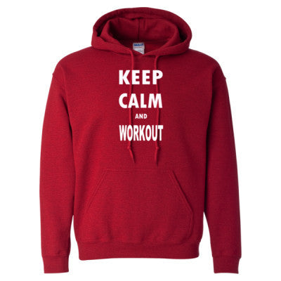 Keep Calm And Workout - Heavy Blend™ Hooded Sweatshirt - Cool Jerseys - 1