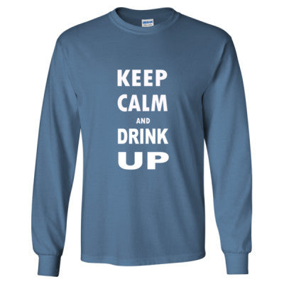 Keep Calm And Drink Up - Long Sleeve T-Shirt - Cool Jerseys - 1