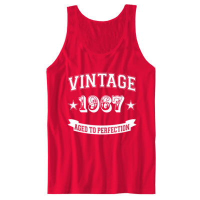 Vintage 1967 Aged To Perfection - Unisex Jersey Tank S-Red- Cool Jerseys - 1