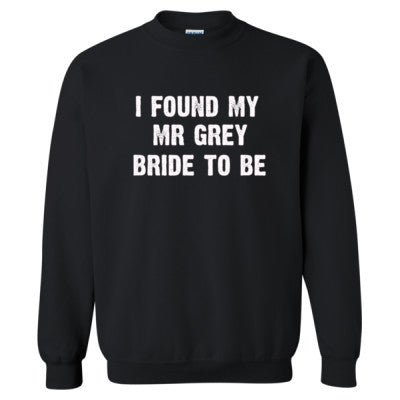 I Found My Mr Grey Tshirt - Heavy Blend™ Crewneck Sweatshirt S-Black- Cool Jerseys - 1