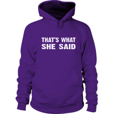 Thats what she said Hoodie S-Purple- Cool Jerseys - 1