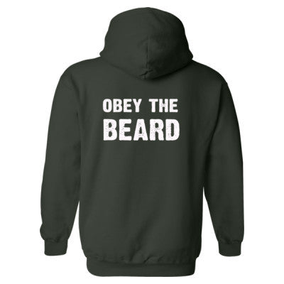 Obey The Beard Heavy Blend™ Hooded Sweatshirt BACK ONLY S-Forest- Cool Jerseys - 1