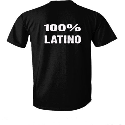 100% Latino tshirt - Ultra-Cotton T-Shirt Back Print Only S-Real black- Cool Jerseys - 1