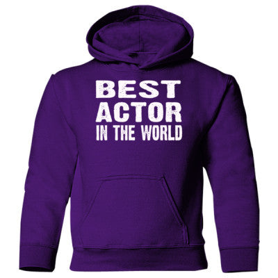 Best Actor In The World - Heavy Blend Children's Hooded Sweatshirt S-Purple- Cool Jerseys - 1