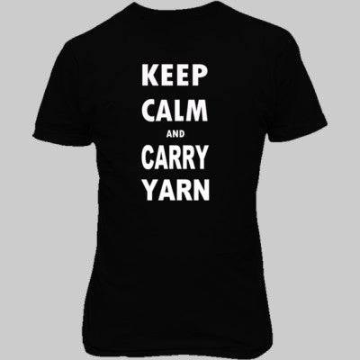 Keep Calm and Carry Yarn - Unisex T-Shirt FRONT Print S-Real black- Cool Jerseys - 1