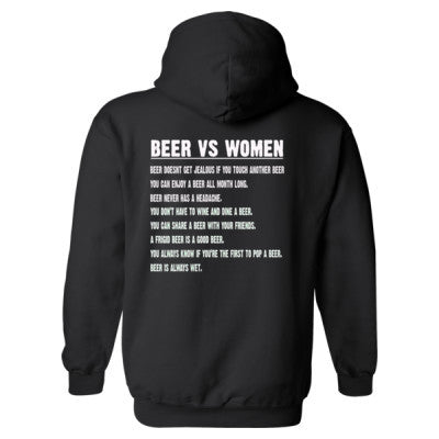 Beer Vs Women Heavy Blend™ Hooded Sweatshirt BACK ONLY S-Black- Cool Jerseys - 1