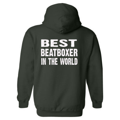 Best Beatboxer In The World - Heavy Blend™ Hooded Sweatshirt BACK ONLY S-Forest- Cool Jerseys - 1