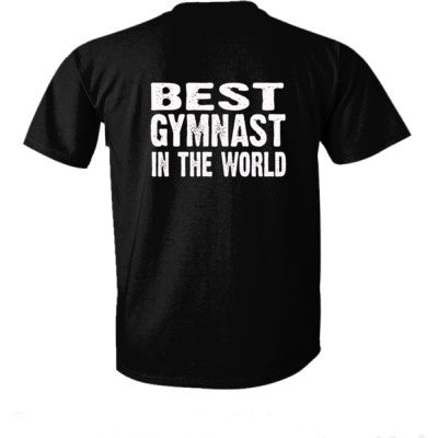 Best Gymnast In The World - Ultra-Cotton T-Shirt Back Print Only - Cool Jerseys - 1