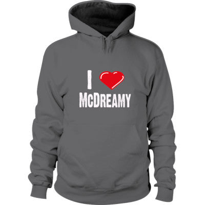 I Love McDreamy Hoodie S-Dark Heather- Cool Jerseys - 1