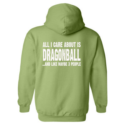 All i Care About Is Dragonball Heavy Blend™ Hooded Sweatshirt BACK ONLY S-Kiwi- Cool Jerseys - 1