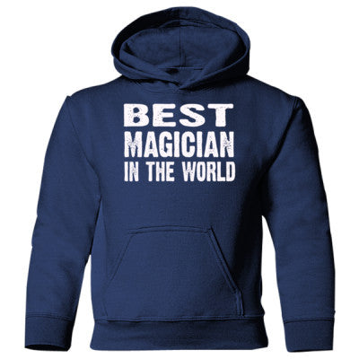 Best Magician In The World - Heavy Blend Children's Hooded Sweatshirt S-Navy- Cool Jerseys - 1