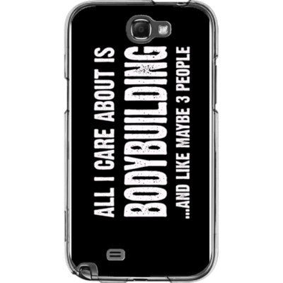 All i Care About is Bodybuilding And Like Maybe Three People - Samsung Note 2 Cover - FREE SHIPPING WITHIN USA OS-Clear- Cool Jerseys