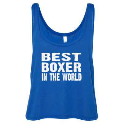 Best Boxer In The World - Ladies' Cropped Tank Top - Cool Jerseys - 1