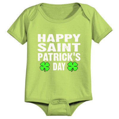 Happy St Patricks Day - Infant 1 Piece 24M-Apple Green- Cool Jerseys - 1