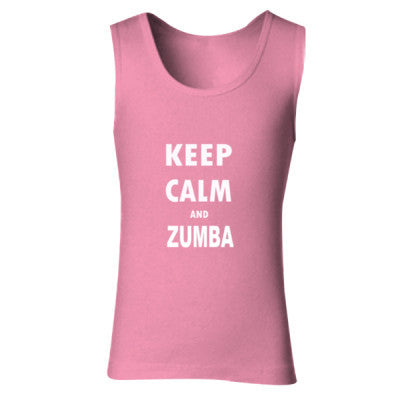 Keep Calm And Zumba - Ladies' Soft Style Tank Top - Cool Jerseys - 1