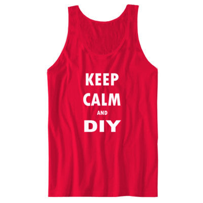 Keep Calm And DIY - Unisex Jersey Tank S-Red- Cool Jerseys - 1