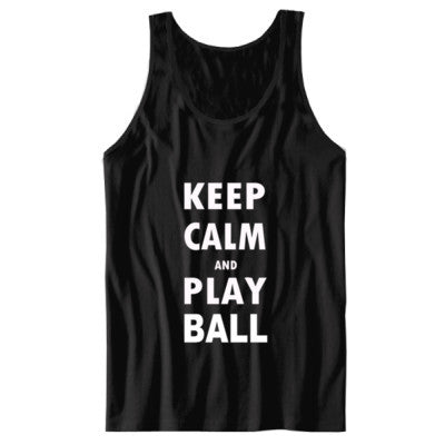 Keep Calm And Play Ball - Unisex Jersey Tank - Cool Jerseys - 1