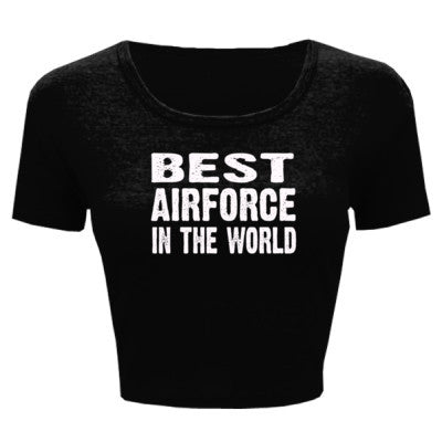 Best Airforce In The World - Ladies' Crop Top XS/S-Black- Cool Jerseys - 1