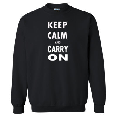 Keep Calm and Carry On - Heavy Blend™ Crewneck Sweatshirt S-Black- Cool Jerseys - 1