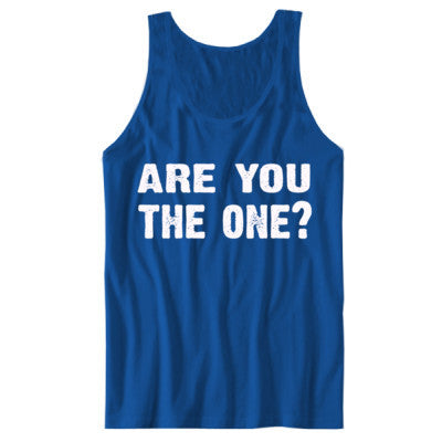 Are you the one tshirt - Unisex Tank S-True Royal- Cool Jerseys - 1