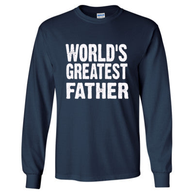 Worlds Greatest Father - Long Sleeve T-Shirt - Cool Jerseys - 1