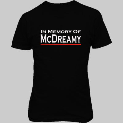 In Memory of McDreamy tshirt - Unisex T-Shirt FRONT Print S-Real black- Cool Jerseys - 1