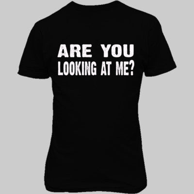 Are you looking at me tshirt - Unisex T-Shirt FRONT Print S-Real black- Cool Jerseys - 1