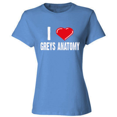 Grey's Anatomy Shirts - Ladies' Cotton T-Shirt S-Carolina Blue- Cool Jerseys - 1