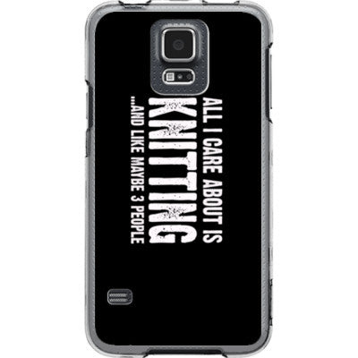 All i Care About is Knitting And Like Maybe Three People - Samsung S5 Phone Cover - FREE SHIPPING WITHIN USA OS-Clear- Cool Jerseys