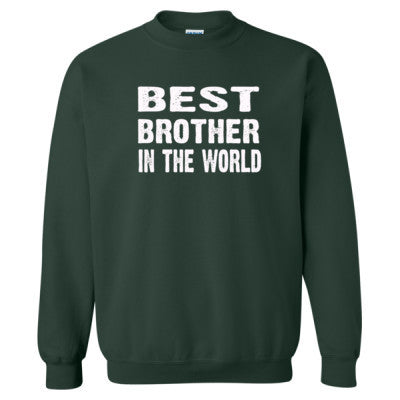 Best Brother In The World - Heavy Blend™ Crewneck Sweatshirt S-Forest- Cool Jerseys - 1