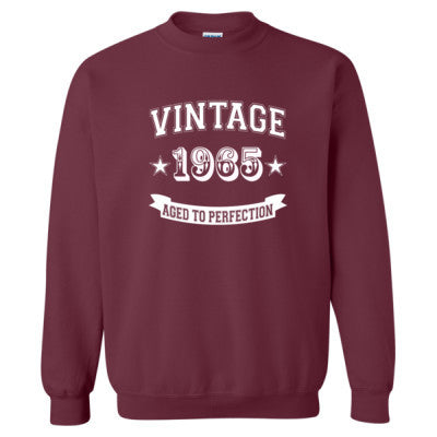 Vintage 1965 Aged To Perfection - Heavy Blend™ Crewneck Sweatshirt - Cool Jerseys - 1