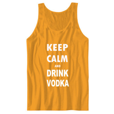 Keep Calm And Drink Vodka - Unisex Jersey Tank XS-Gold- Cool Jerseys - 1