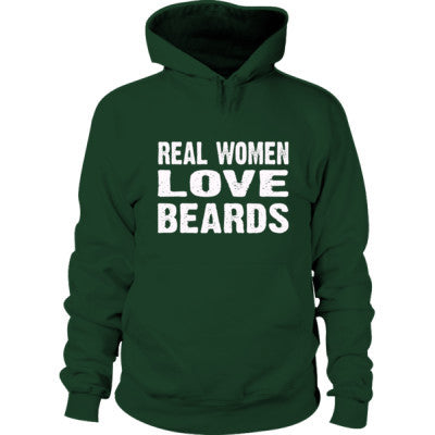 Real Women Love Beards Hoodie S-Forest Green- Cool Jerseys - 1