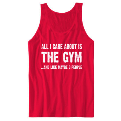 All i Care About Is The Gym tshirt - Unisex Jersey Tank - Cool Jerseys - 1
