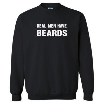 Real Men Have Beards tshirt - Heavy Blend™ Crewneck Sweatshirt S-Black- Cool Jerseys - 1