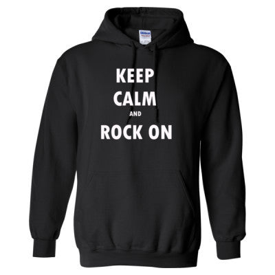 Keep Calm And Rock On - Heavy Blend™ Hooded Sweatshirt S-Black- Cool Jerseys - 1