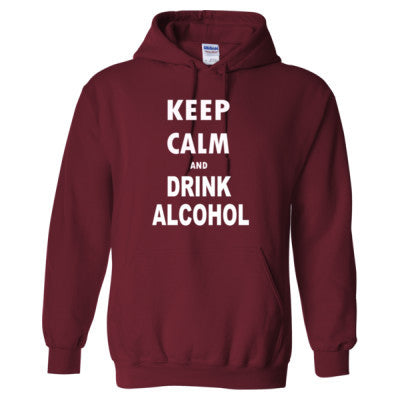 Keep Calm And Drink Alcohol - Heavy Blend™ Hooded Sweatshirt S-Garnet- Cool Jerseys - 1