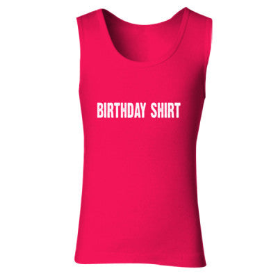 Birthday shirt - Ladies' Soft Style Tank Top S-Cherry Red- Cool Jerseys - 1