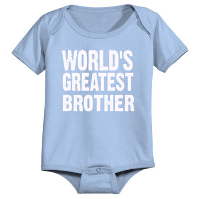 Worlds Greatest Brother - Infant 1 Piece - Cool Jerseys - 1