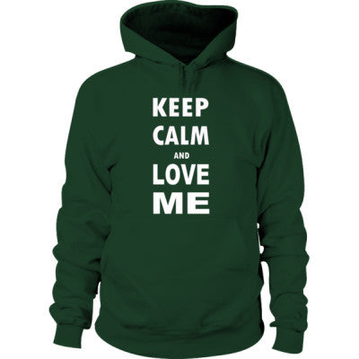 Keep Calm And Love Me - Hoodie S-Forest Green- Cool Jerseys - 1
