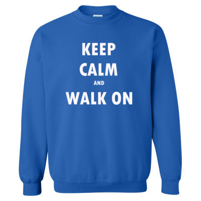 Keep Calm And Walk On - Heavy Blend™ Crewneck Sweatshirt S-Royal- Cool Jerseys - 1