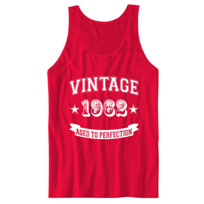 Vintage 1962 Aged To Perfection - Unisex Jersey Tank - Cool Jerseys - 1