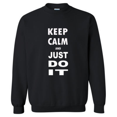 Keep Calm And Just Do It - Heavy Blend™ Crewneck Sweatshirt S-Black- Cool Jerseys - 1