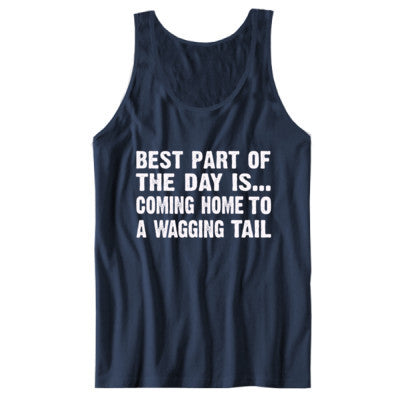 Best Part of the Day Is Coming Home To A Wagging Tail tshirt - Unisex Jersey Tank XS-Navy- Cool Jerseys - 1
