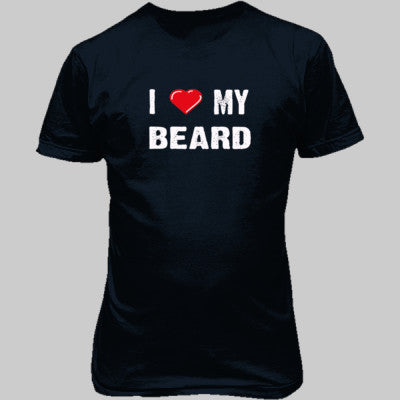 I Love My Beard tshirt - Unisex T-Shirt FRONT Print S-Blue Dusk- Cool Jerseys - 1