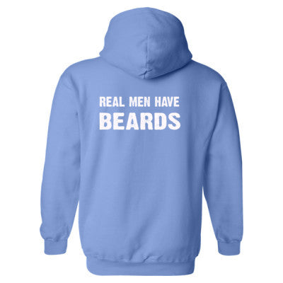 Real Men Have Beards Heavy Blend™ Hooded Sweatshirt BACK ONLY S-Carolina Blue- Cool Jerseys - 1