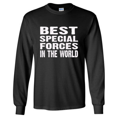 Best Special Forces In The World - Long Sleeve T-Shirt S-Black- Cool Jerseys - 1