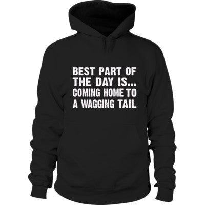 Best Part of the Day Is Coming Home To A Wagging Tail Hoodie S-Black- Cool Jerseys - 1