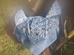 Bandana Bonnets - Mule size (Paisley and Solid Safety)